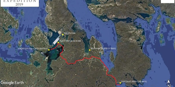Arctic Return Expedition route